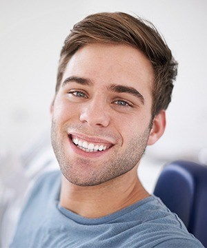 Man with bright white smile